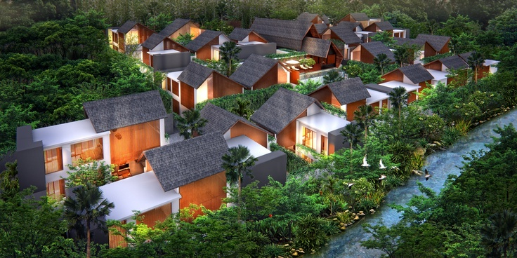 A vision of cozy elegance and contemporary Asian charm, the Agranusa Signature Villas recognizably captures the essence of a traditional Balinese kampoeng in a contemporary modern format.