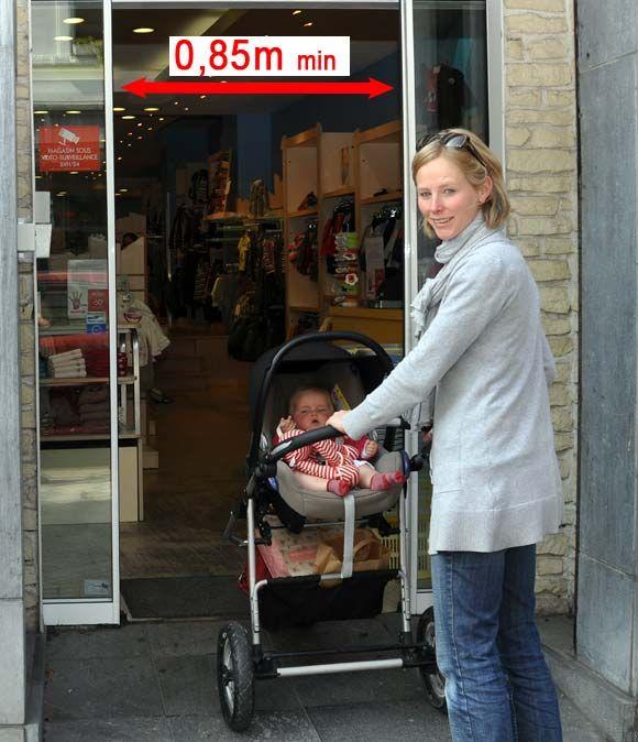 commerces accessibles : portes automatiques
