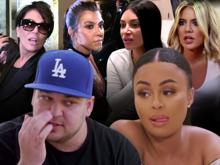Kardashian Family Upset with Rob Over Posting Blac Chyna Naked Pics, You're Hurting Your Child
