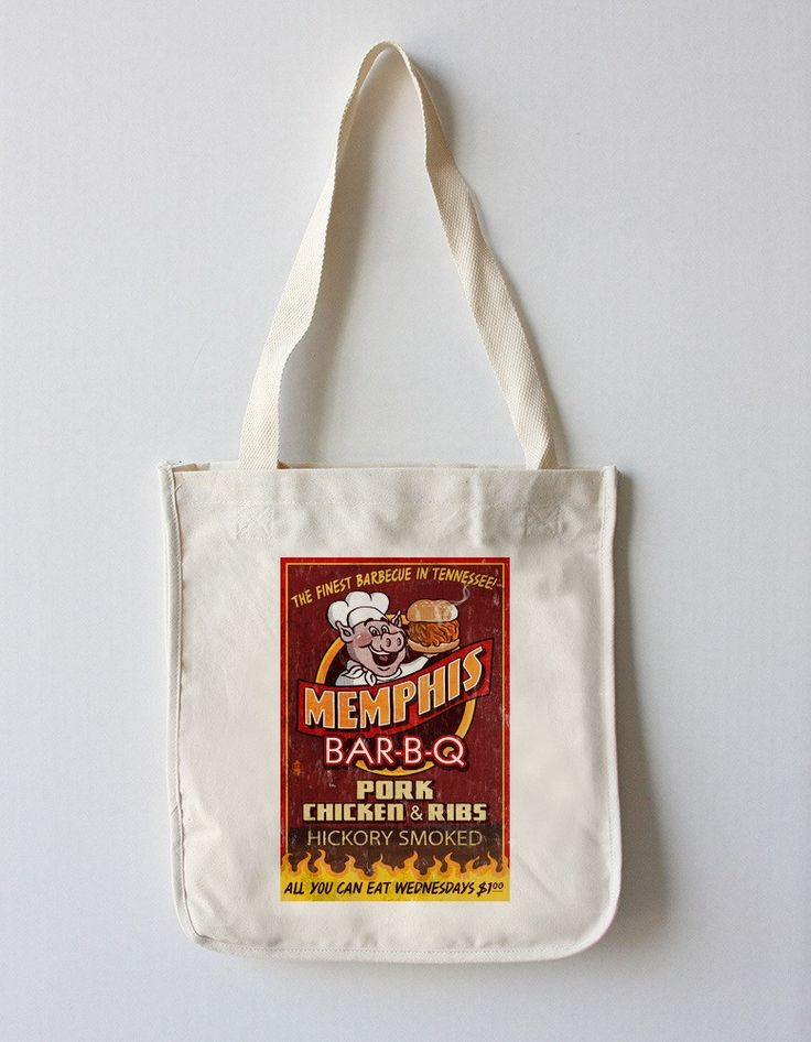Memphis, Tennessee - Barbecue Vintage Sign - Lantern Press Artwork