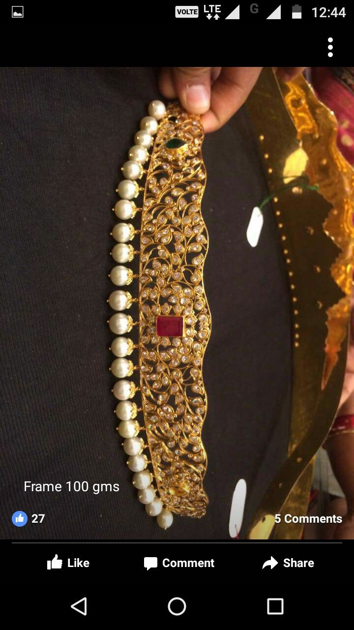 Gold vaddanam oddiyanam kammarpatta waisbelt designs south indian - Gold Jewelrybeltindia