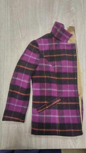 Школа искусства костюма: образец пальто с притачной подкладкой