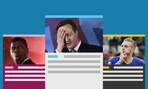David Cameron with John Boyega and Jamie Vardy