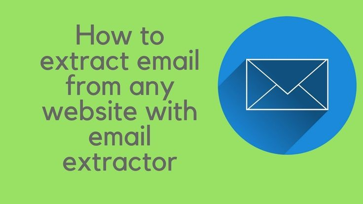 How to extract email from any website with email extractor