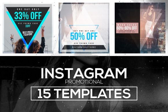 15 Instagram Templates vol.1: Promo by RussGFX on @creativemarket
