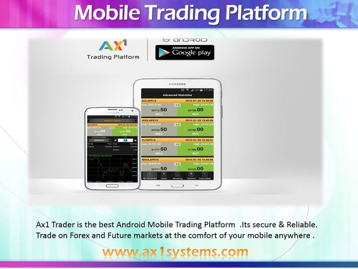 Ax1 Trader is the bestAndroid Mobile Trading Platform  .Its secure & Reliable. Trade on Forex and Future markets at the comfort of your mobile anywhere .