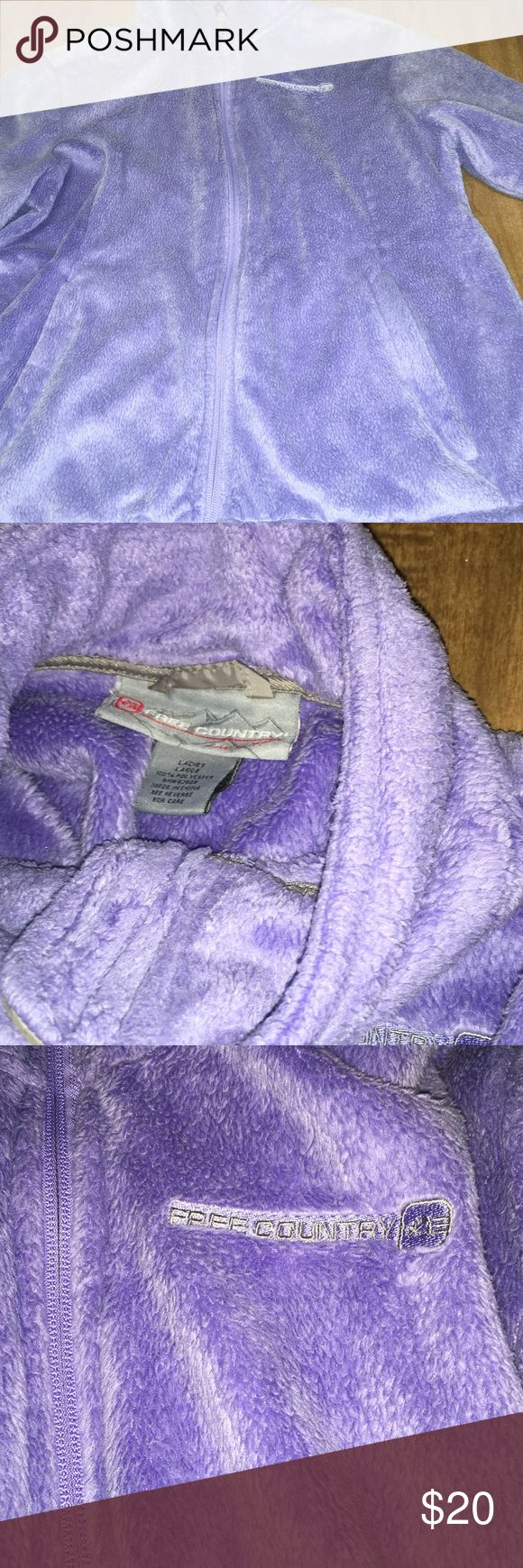 FREE COUNTRY JACKET It is a ladies large but honestly it is the same size as my north face jacket that is a SMALL. LIGHT PURPLE. Free Country Jackets & Coats