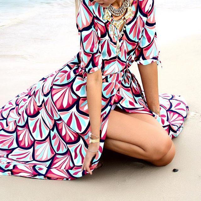 Yannika - The Wrap Dress in Mimosa