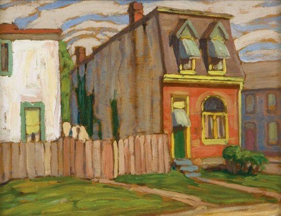 House In Toronto c.1918 Lawren Harris