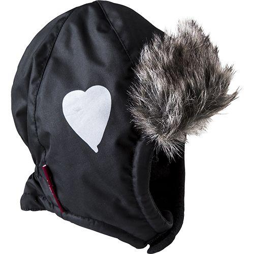 Cap, fur, heart