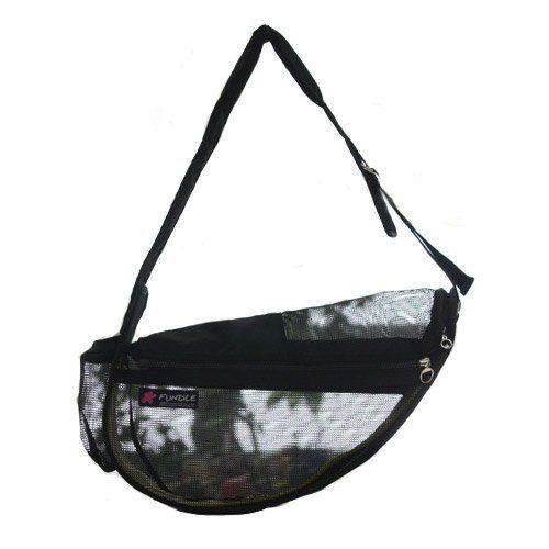 Fundle Pet Dog Cat Cool Sling Carrier Bag Adjustable Strap Seethrough Standard Black *** Click image for more details.