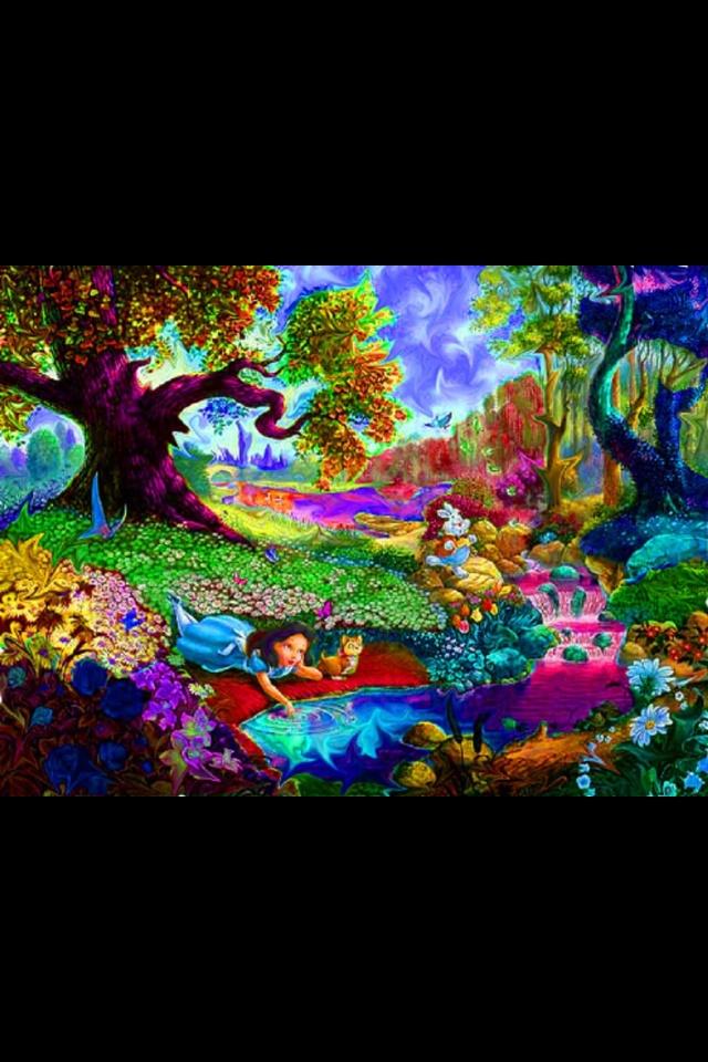 Alice In Wonderland Trippy Art Psychedelic Art