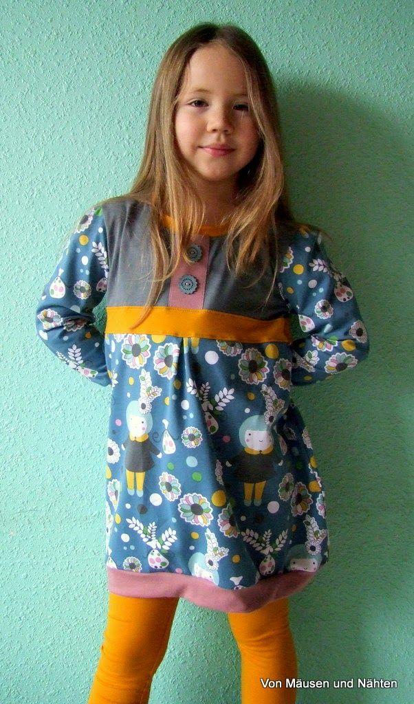 """Lillestoff """"Wintermädchen"""" Design von Kluntjebunt Bernadette Burnett, vernäht von Simone Schneider."""