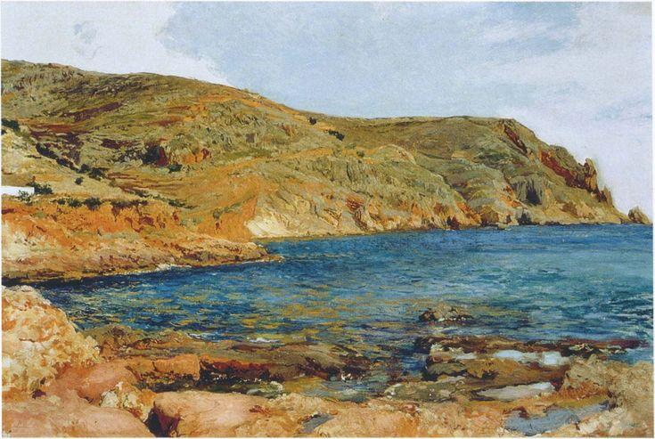 Joaquín SOROLLA Y BASTIDA. The cave at San Javea [oil on canvas], 1895.