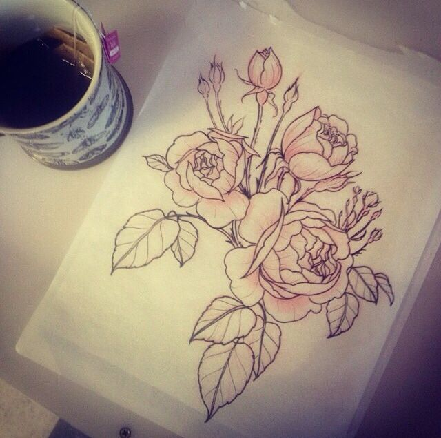25 trending rose drawing tattoo ideas on pinterest rose tattoos alice carriers botanical tattoos are swoon worthy and look like theyre straight out rose drawing ccuart Image collections