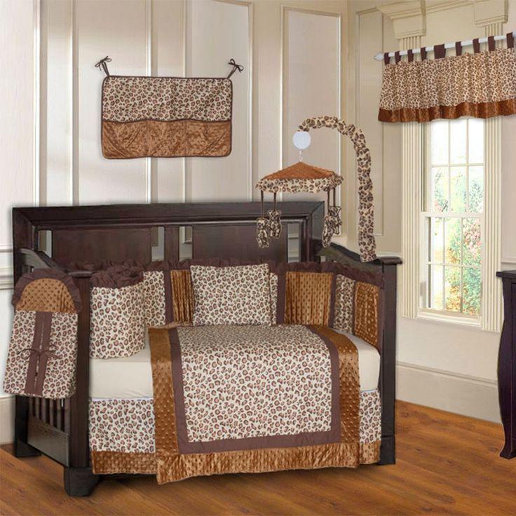Leopard 10 Piece Crib Bedding Set