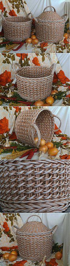 Корзины для овощей: плетение из газетных трубочек | Своими руками