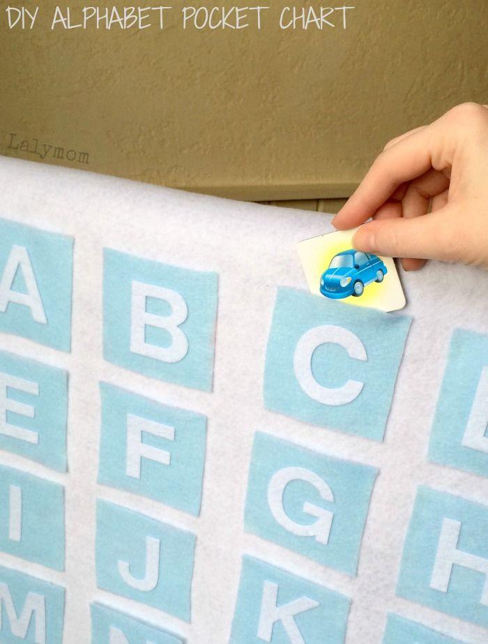Mural con bolsillos de letras