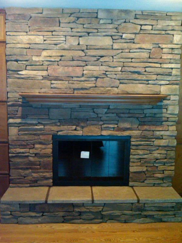 Refacing fireplace ideas reface fireplace redesign - Covering brick fireplace with tile ...