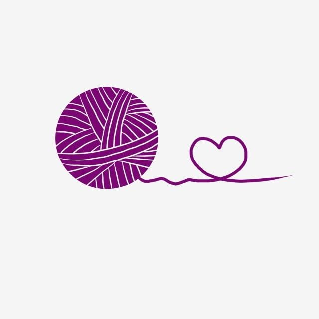 Purple Yarn And Love Purple Wool Round Png Transparent Clipart Image And Psd File For Free Download Sewing Logo Yarn Handmade Logo