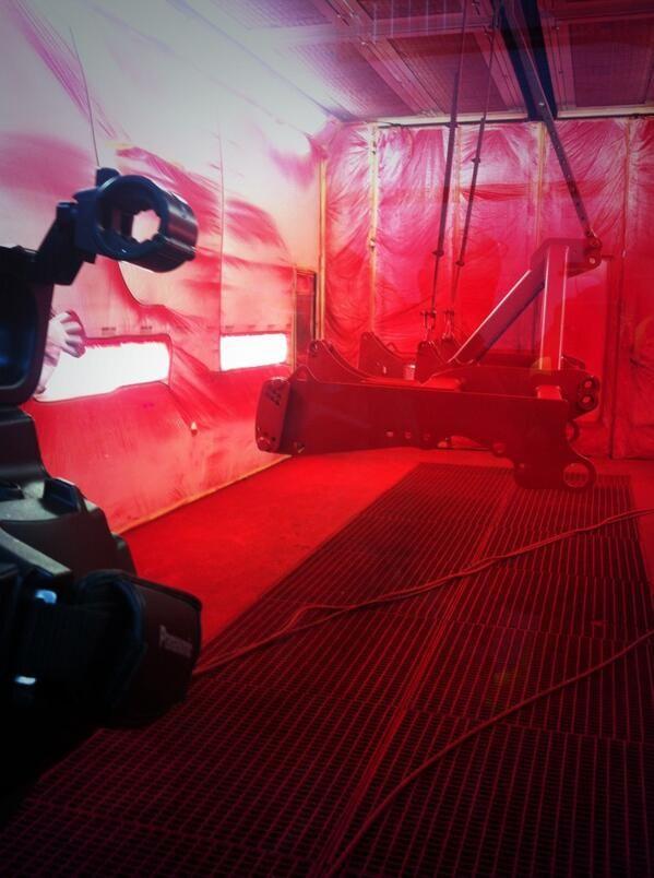 Spraying machinery Sumo's distinctive red