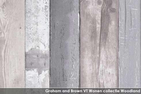 VTwonen sloophout behang lambrisering