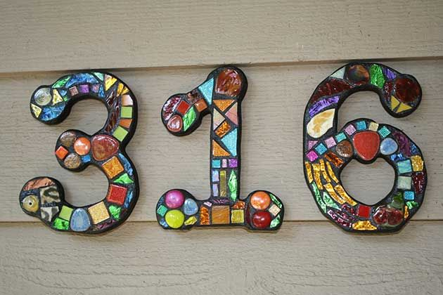 Mosaic house numbers