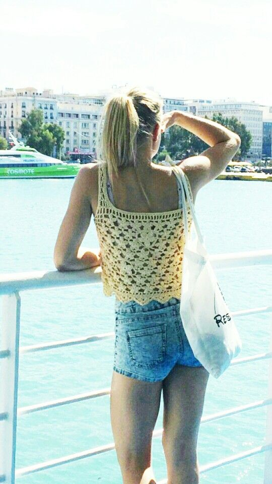 Lovely Finnish handmade crochet tank top, please check my facebook page facebook.com/helmistyle ! :)