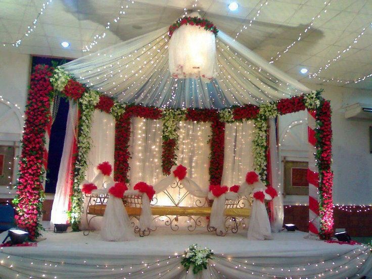17 best images about wedding stage decor on pinterest for Asian wedding bed decoration ideas