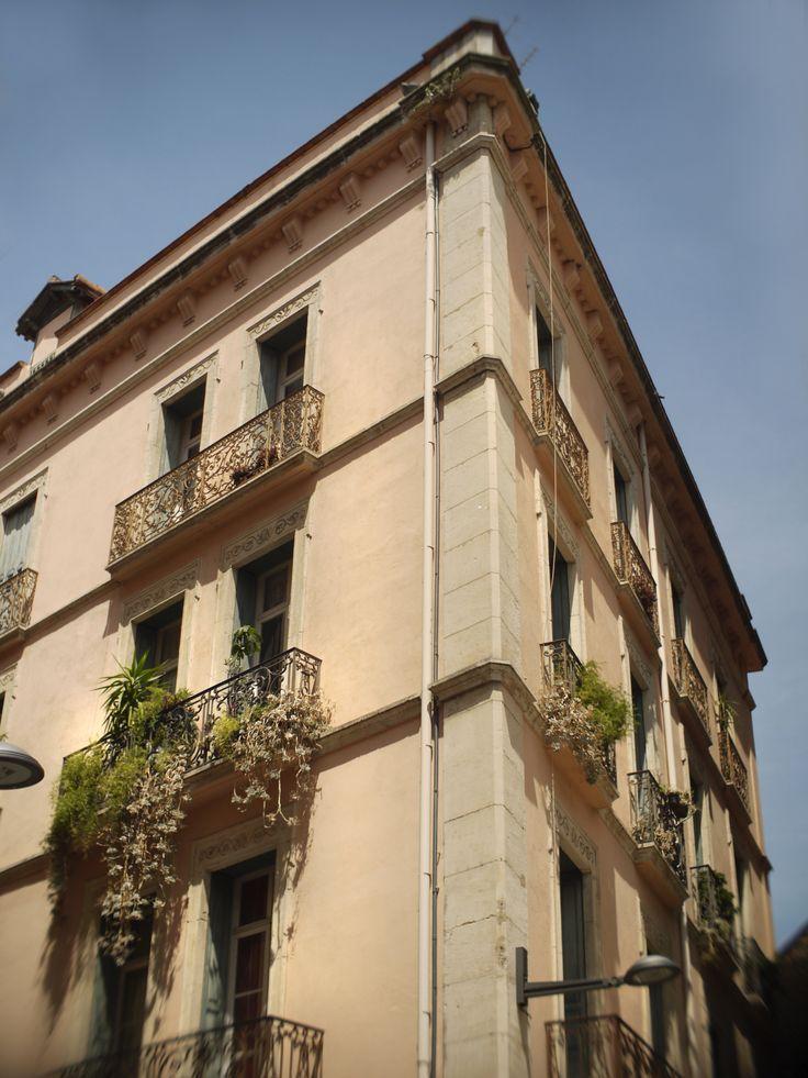 Rue de la cité Bartissol - Perpignan - Pyrénées orientales - France