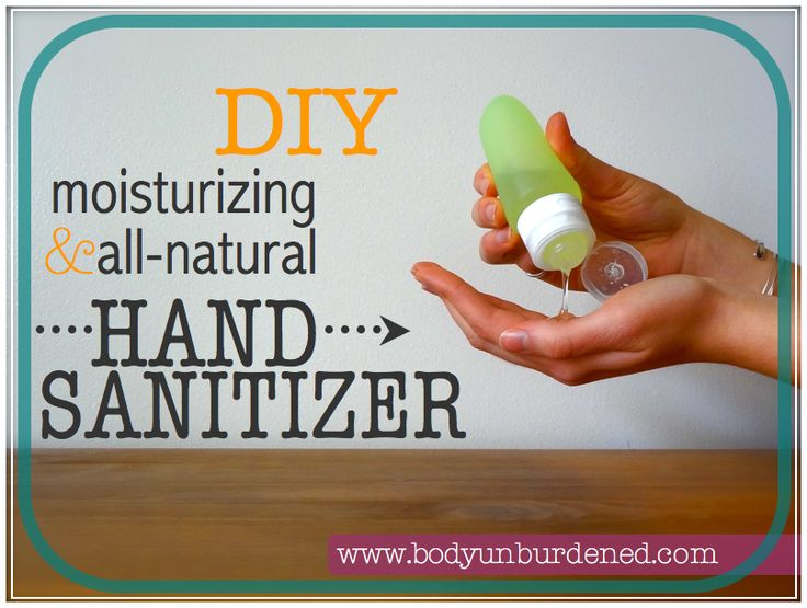 DIY moisturizing & all-natural hand sanitizer - to keep your hands both silky smooth and germ-free!