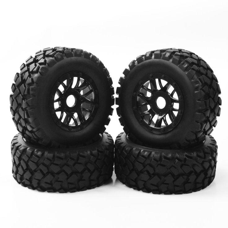 19.99$  Watch now - http://alita0.shopchina.info/go.php?t=32809334891 - 4pcs Tire Set Wheel Hub17mm Hex RC 1:10Short Course Truck Tyre&Wheel Rim 4 TRAXXAS SLASH PP0339&PP1003K 19.99$ #aliexpresschina