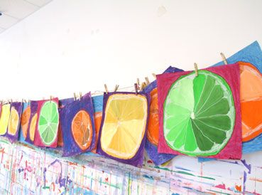 Tints and shades fruit art