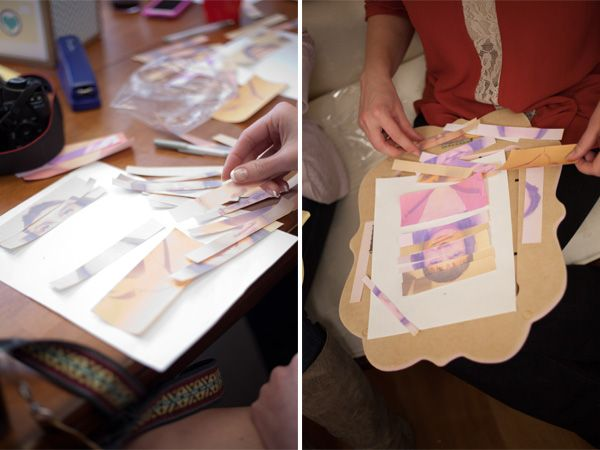 Fun baby shower game - cut up photos of mom & dad and have guests build what they think baby will look like!  A Baby Shower for the WorldTraveler - Baby Blog - Best Baby Sites