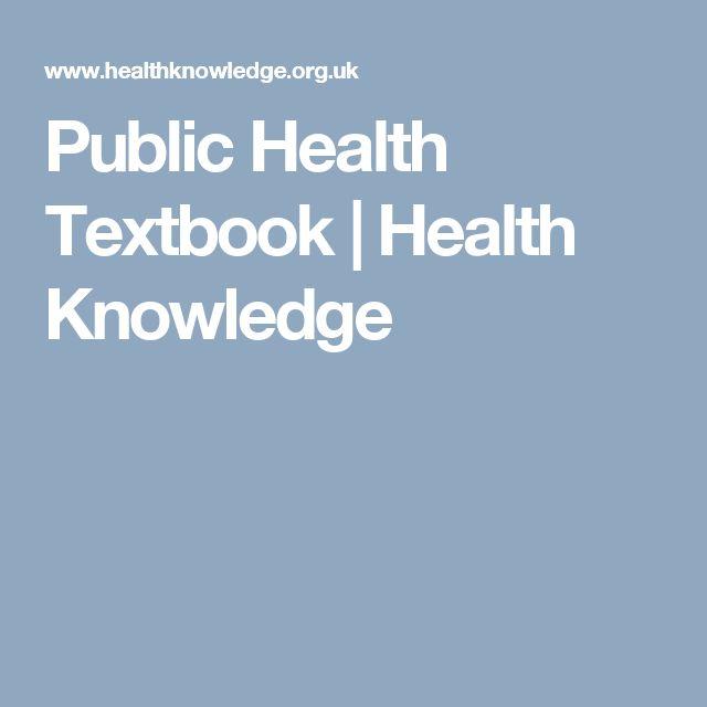 Public Health Textbook | Health Knowledge
