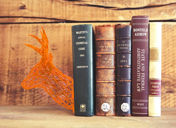 Buy this bookend: http://shpws.me/IToh ................................................... Cool bookend printed on 3d printer. #3d, #print, #book, #end, #deer, #printing, #gift