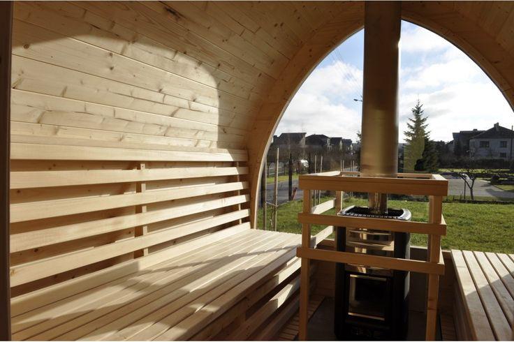 Sauna Igloo con vista panoramica e stufa a legna