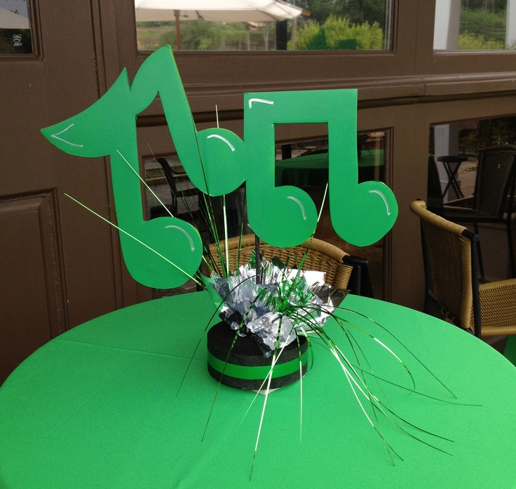 Music Note Center Piece - By The Party Girl Events