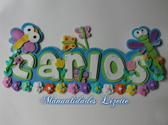 nombre decorados con mariposas y libelulas - Buscar con Google