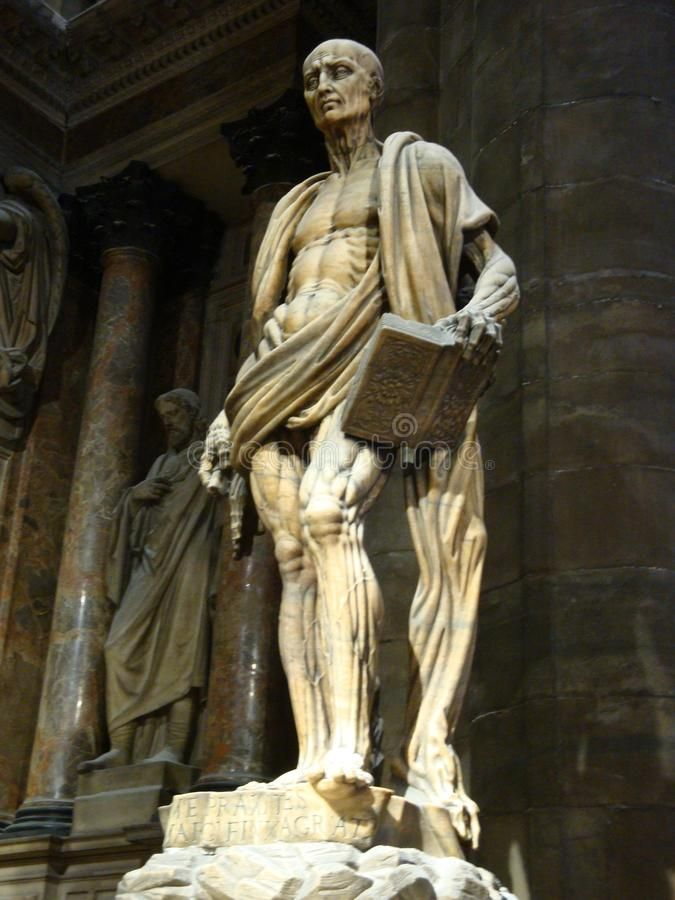 Photo about Detail form a statue inside Duomo - July 2017 - Milan - Italy. Image of duomo, gothic, cathedral - 111277834