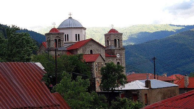 Agia Paraskevi in Voutiro Euritania Greece Voutiro on a Very Rainy Day | Flickr - Photo Sharing!