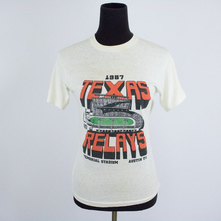 Vintage 80s Small Austin Texas Relays T-Shirt
