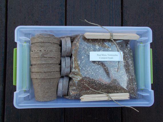 Small Gardening Kit, Herb Garden Kit for Herbs, Vegetables and Flowers on Etsy, $18.50