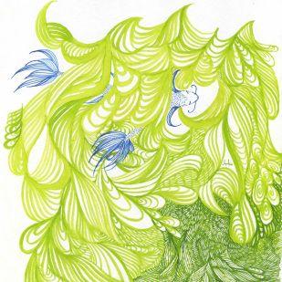 Green Waters, Shy Fish - by Ashya Lane-Spollen