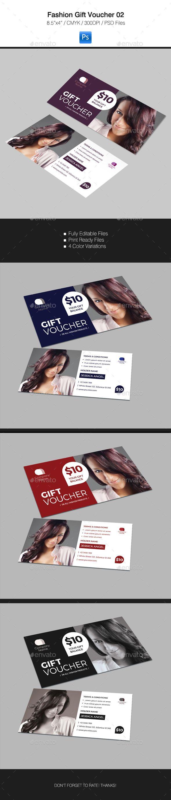 Gift Voucher #design Download: http://graphicriver.net/item/fashion-gift-voucher-02/13148746