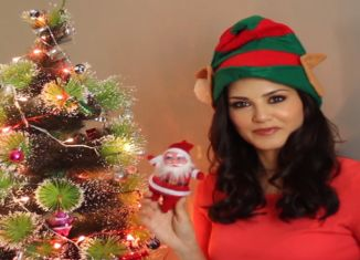 Sunny Leone the sexiest santa ever on zoom tv.