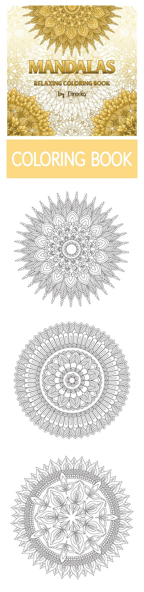 Mandalas: Relaxing Coloring Book for Adults. #mandala #coloring