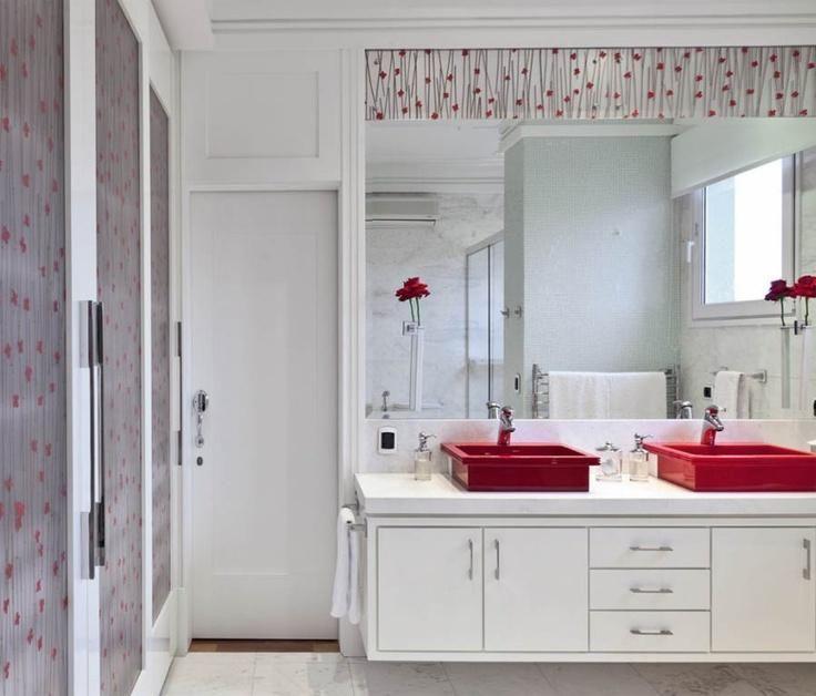 60 Wunderschone Rote Badezimmer Zum Inspirieren Rote Badezimmer