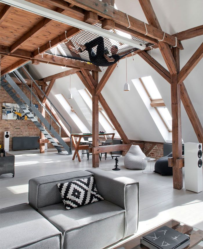 Loft Apartment in Poznan by Cuns Studio - InteriorZine