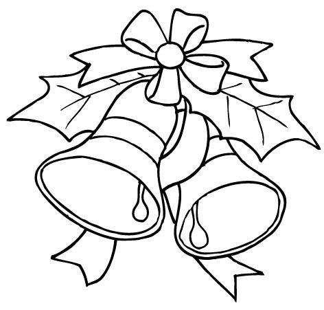 adorno de navidad campanas colorear